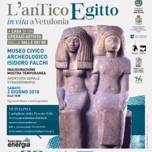 2/06/2018-4/11/2018 L'antico Egitto inVITA a Vetulonia. A casa di un operaio artista nella Valle dei Re