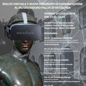 27/07/2018 Realtà Virtuale e Nuovi Strumenti di Comunicazione al Museo Isidoro Falchi di Vetulonia